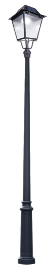 solar lamp post with pole